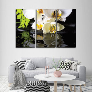 Zen Orchids Multi Panel Canvas Wall Art - Spa