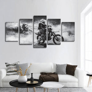 Dust Track Racing Multi Panel Canvas Wall Art - Extreme