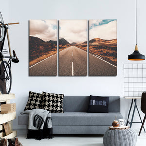 The Open Road Multi Panel Canvas Wall Art - Nature