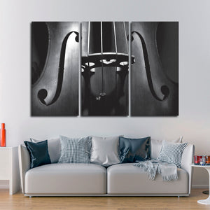 Double Bass Multi Panel Canvas Wall Art - Music