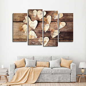 Love Of Music Multi Panel Canvas Wall Art - Music