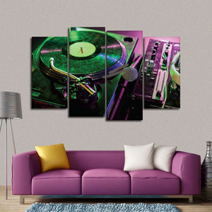 Sound Recording Mixer Multi Panel Canvas Wall Art - Music