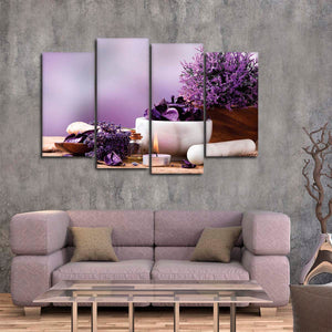 Calming Lavender Multi Panel Canvas Wall Art - Spa