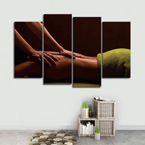 Swedish Massage Multi Panel Canvas Wall Art - Spa