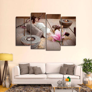 Spa Tranquility Multi Panel Canvas Wall Art - Spa
