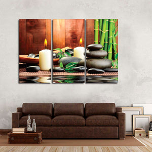 Zen Bamboo Spa Multi Panel Canvas Wall Art - Spa