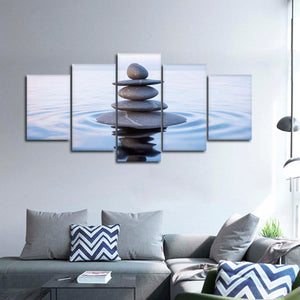 Tranquil Balance Multi Panel Canvas Wall Art - Spa