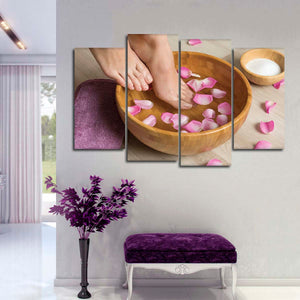 Soothing Foot Soak Multi Panel Canvas Wall Art - Spa