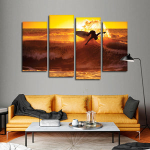 Surf Addict Multi Panel Canvas Wall Art - Surfing