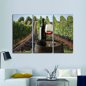 Vineyard Party Time Multi Panel Canvas Wall Art - Winery