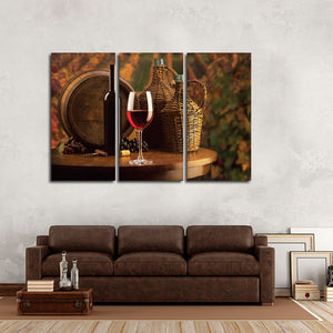 Shiraz In The Vineyard Multi Panel Canvas Wall Art - Winery