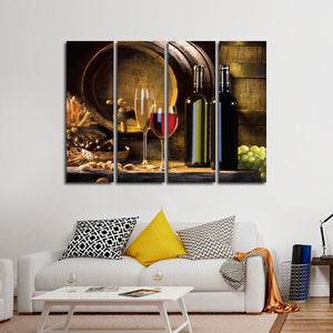 Delicious Blend Multi Panel Canvas Wall Art - Winery
