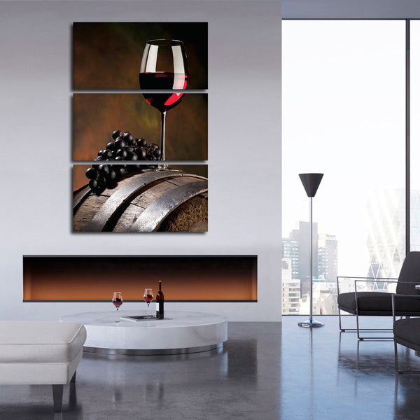 Barrel Aroma Multi Panel Canvas Wall Art