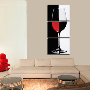 Red Wine Perspective Multi Panel Canvas Wall Art - Winery