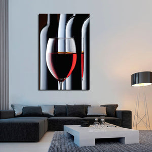 Cabernet Sauvignon Multi Panel Canvas Wall Art - Winery