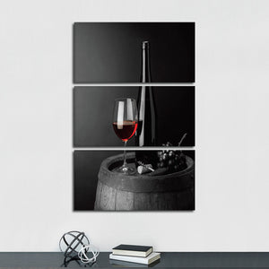 Merlot Pop Multi Panel Canvas Wall Art - Winery