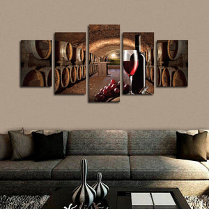The Cellar Multi Panel Canvas Wall Art - Winery
