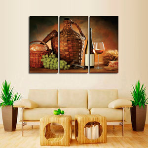 A Glorious Meal Multi Panel Canvas Wall Art - Winery