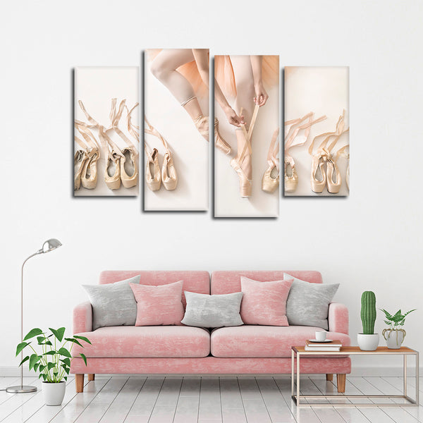 Ballet Prep Multi Panel Canvas Wall Art