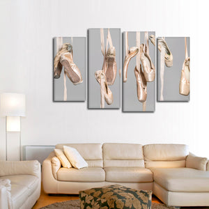 Ballet Shoes Multi Panel Canvas Wall Art - Dance