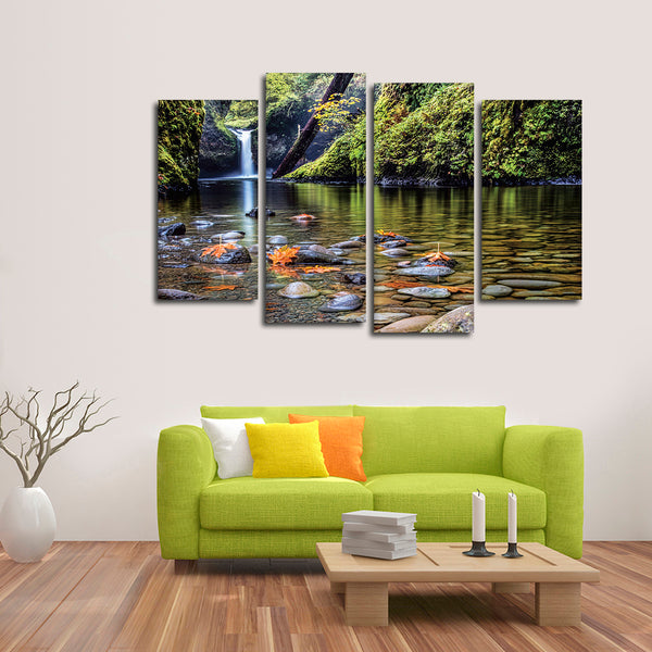 Autumn At Punchbowl Multi Panel Canvas Wall Art