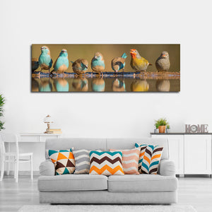 Vivid Birds Multi Panel Canvas Wall Art - Bird