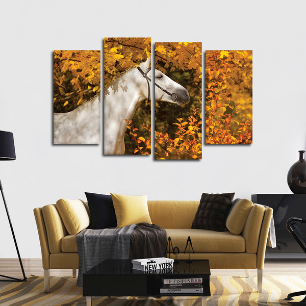 Autumn Horse Multi Panel Canvas Wall Art