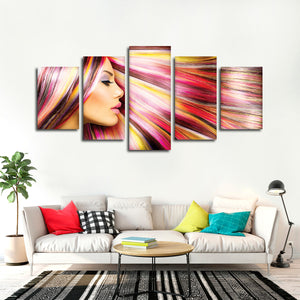 Vibrant Highlights Multi Panel Canvas Wall Art - Hair