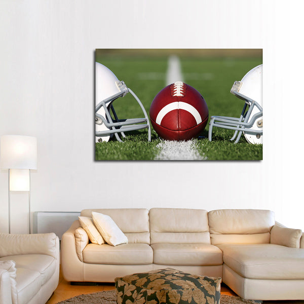 Football Face Off Multi Panel Canvas Wall Art