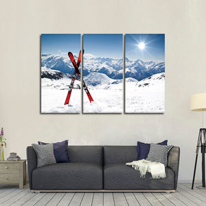 Awesome Ski Weather Multi Panel Canvas Wall Art - Ski