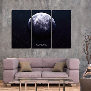 Neptune Multi Panel Canvas Wall Art - Astronomy
