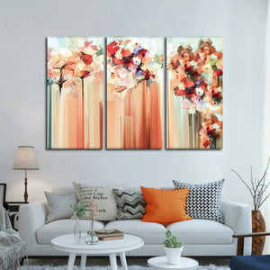 Abstract Blooms Multi Panel Canvas Wall Art - Abstract