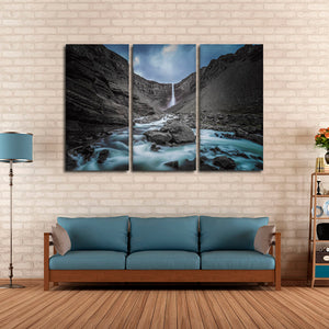 Wild Waterfall Multi Panel Canvas Wall Art - Nature