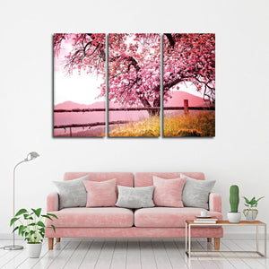 Blossoming Tree Multi Panel Canvas Wall Art - Flower