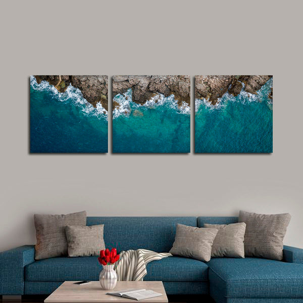 Rocky Seacoast Multi Panel Canvas Wall Art