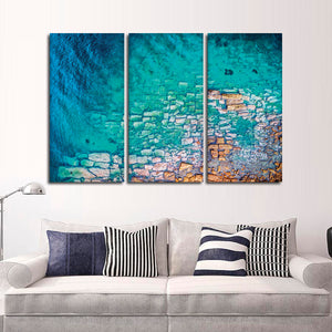 Aerial Ocean View Multi Panel Canvas Wall Art - Aerial
