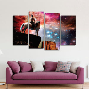 Universe Chief Multi Panel Canvas Wall Art - Native_american