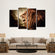 Angry Lion Roar Multi Panel Canvas Wall Art