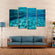 Beautiful Underwater View Multi Panel Canvas Wall Art