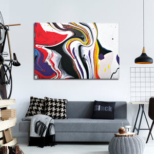 Colorful Abstract Multi Panel Canvas Wall Art - Abstract