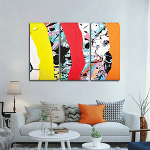 Contemporary Abstract Multi Panel Canvas Wall Art - Abstract
