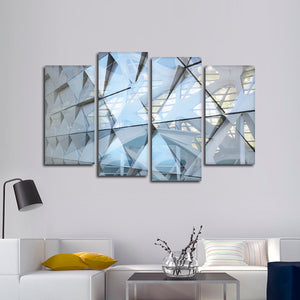 Modern Building Facade Multi Panel Canvas Wall Art - Architecture