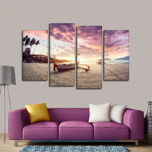 Goa Fishing Boat Multi Panel Canvas Wall Art - Boat