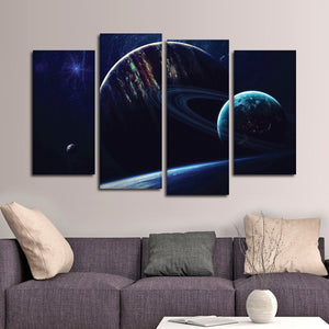 Universe Galaxies Multi Panel Canvas Wall Art - Astronomy