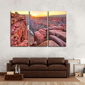 Sunrise Over Grand Canyon Multi Panel Canvas Wall Art - Nature