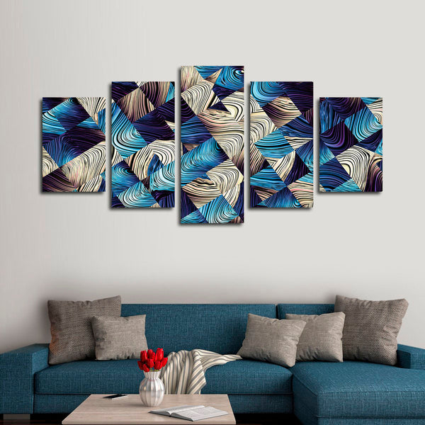 Abstract Cubes Multi Panel Canvas Wall Art