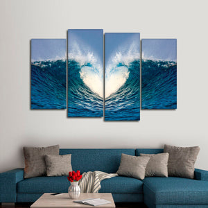 Waves Of Love Multi Panel Canvas Wall Art - Surfing