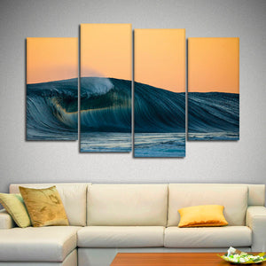 Perfect Surfer Wave Multi Panel Canvas Wall Art - Surfing