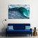 Big Wave Surfing Multi Panel Canvas Wall Art
