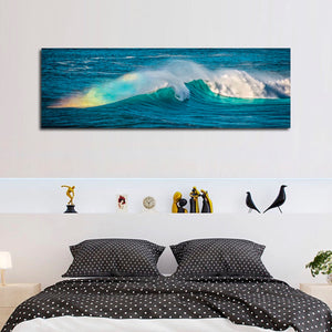 Ocean Rainbow Multi Panel Canvas Wall Art - Surfing